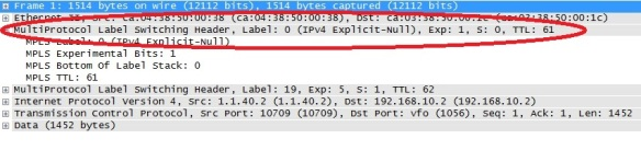 p to pe2 ftp remarked with Explicit null