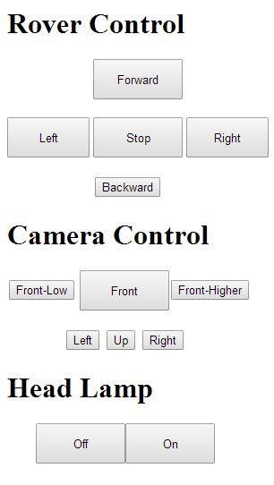web page rover control